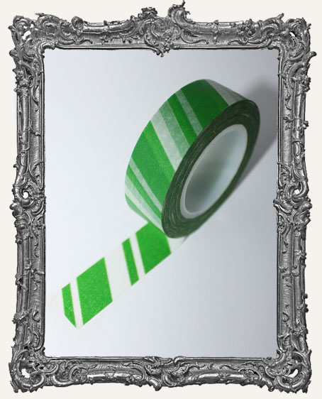 Washi Tape - Candy Stripe Green