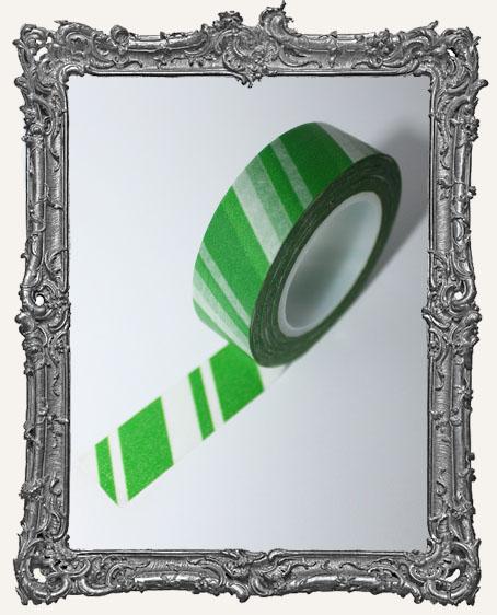 Washi Tape - Candy Stripe Green
