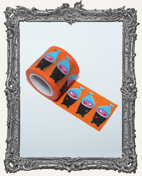 Washi Tape - Cute Orange Characters