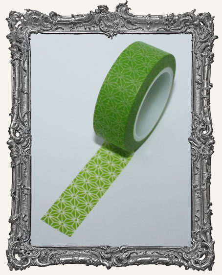 Washi Tape - Green Star Flower