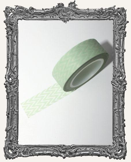 Washi Tape - Light Green Chevron