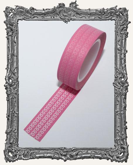 Washi Tape - Bubblegum Pink Doodle