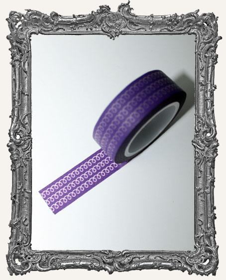 Washi Tape - Purple Doodle