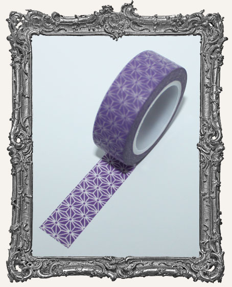 Washi Tape - Purple Star Flower