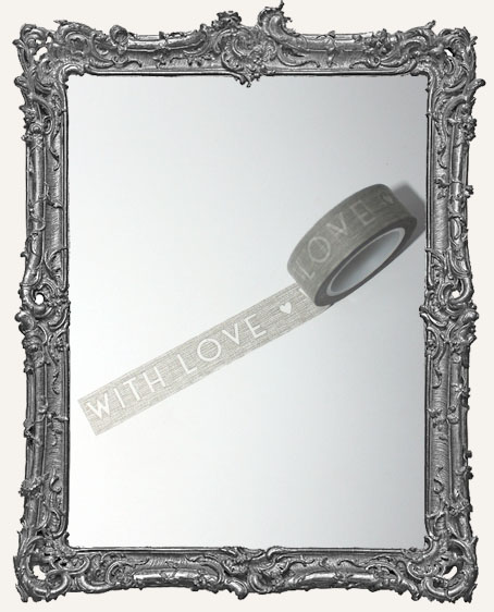 Washi Tape - Distressed With Love Grey