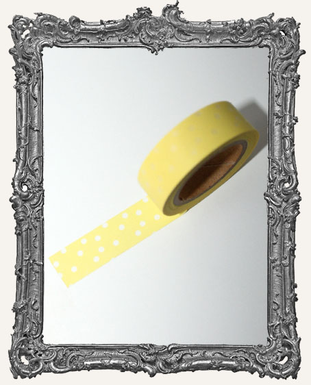 Washi Tape - Yellow with White Dots