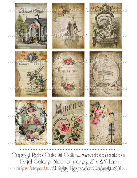 Antique Mix Collage Sheet