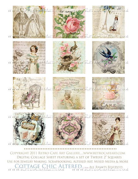 Cottage Chic Collage Sheet