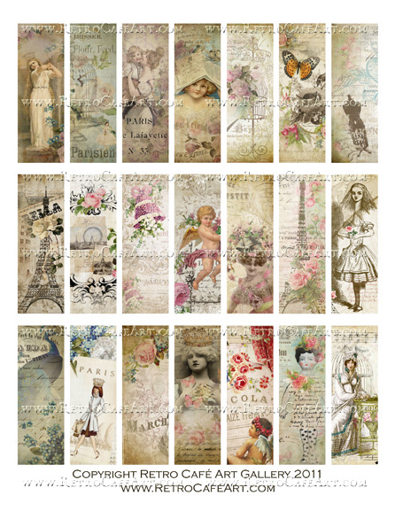 Shabby Microslides Collage Sheet
