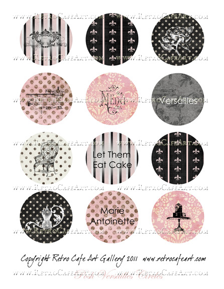 Posh Versailles Circles Collage Sheet