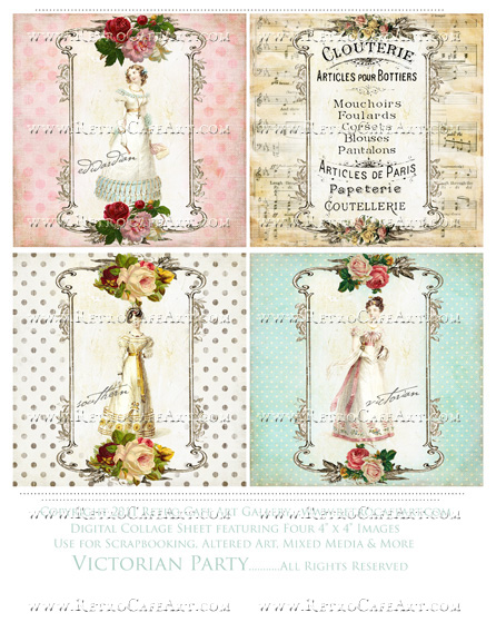 Victorian Party Collage Sheet
