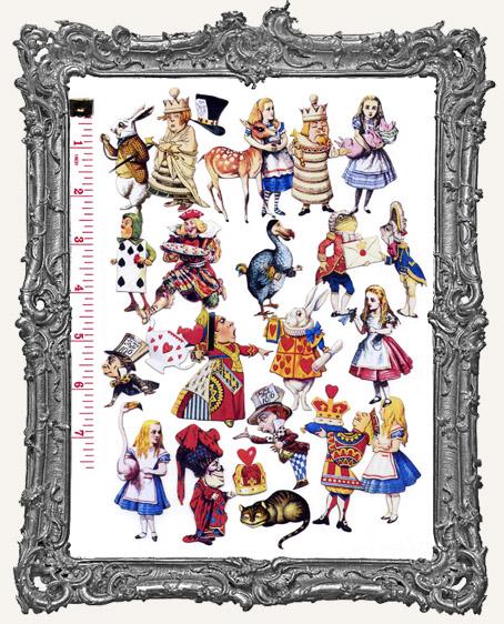 22 Alice in Wonderland Paper Cuts