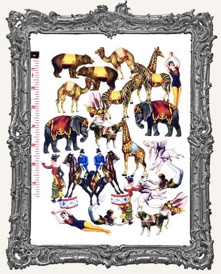 24 Circus Paper Cuts