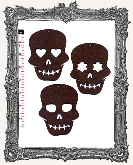 Sugar Skull Ornaments - Set of 3