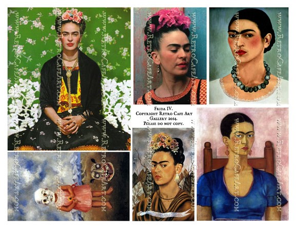 Frida Kahlo Collage Sheet IV