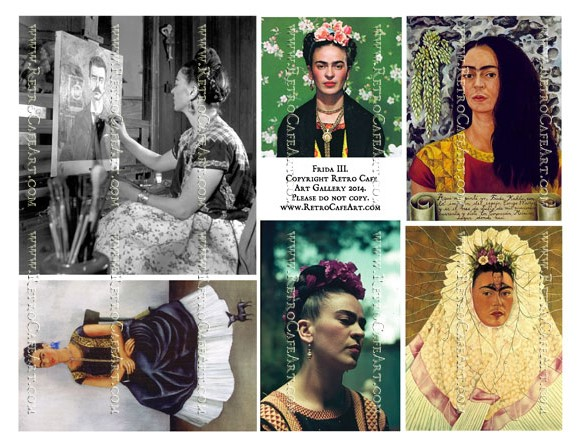 Frida Kahlo Collage Sheet III