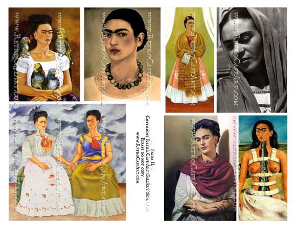 Frida Kahlo Collage Sheet II