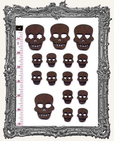 Sugar Skull Cut-Outs - 16 Pieces