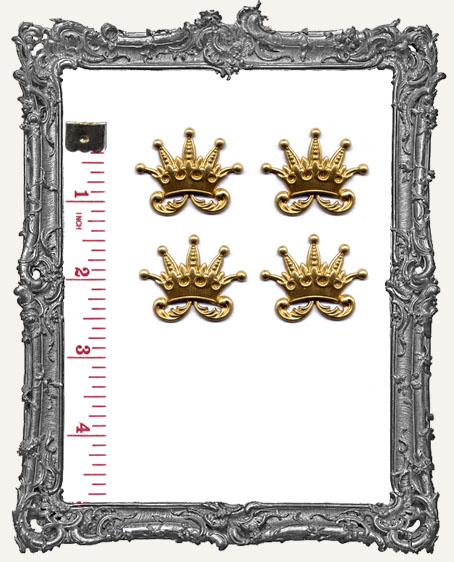 Whimsy Brass Crowns - Set of 4