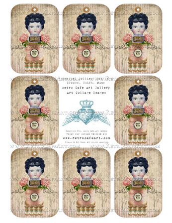 Whimsical Dollies Gift Tags