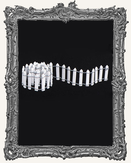 White Picket Fence - 18 Inch x 1 Inch