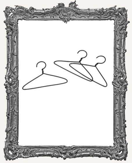2 Inch Mini Wire Clothes Hangers - Package of 3