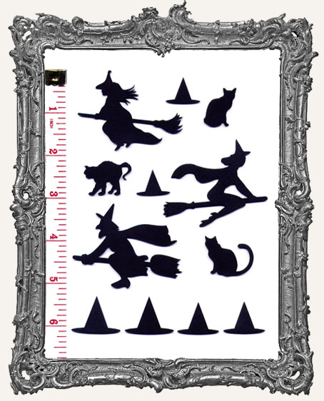 Witches, Black Cats, and Hats Cut-Outs