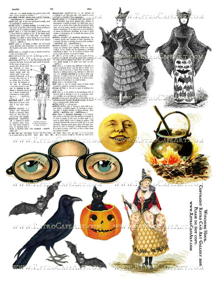 Witching Hour Halloween Collage Sheet