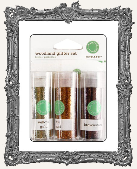 Martha Stewart Glitter Set with Glue - Woodland