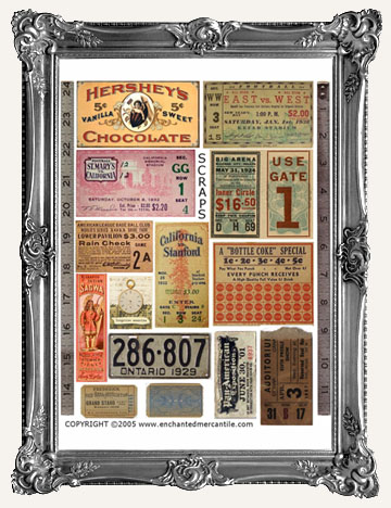 VINTAGE SCRAPS and EPHEMERA
