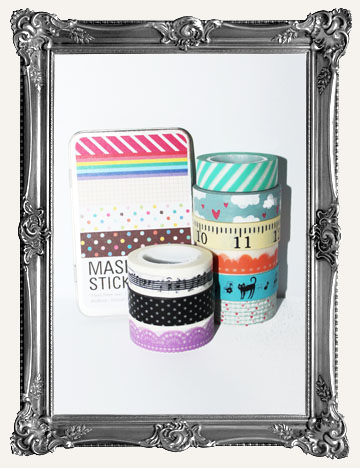 WASHI TAPE, LACE TAPE, RIBBON, STICKERS, & MORE
